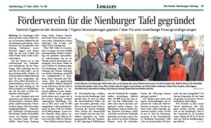 Förderverein für die Nienburger Tafel gegründet