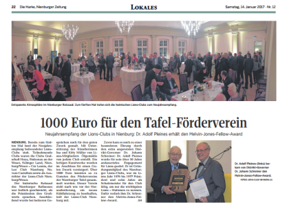 1000 Euro für den tafel-Förderverein©DIE HARKE