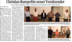 Neuer Vorsitzender Rumpeltin