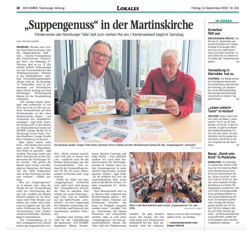 Suppengenuss 2019 - Vorbericht©DIE HARKE